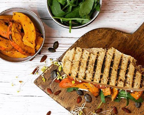So yummy for breakfast too Roasted pumpkin sandwich breakfast frhstckhellip