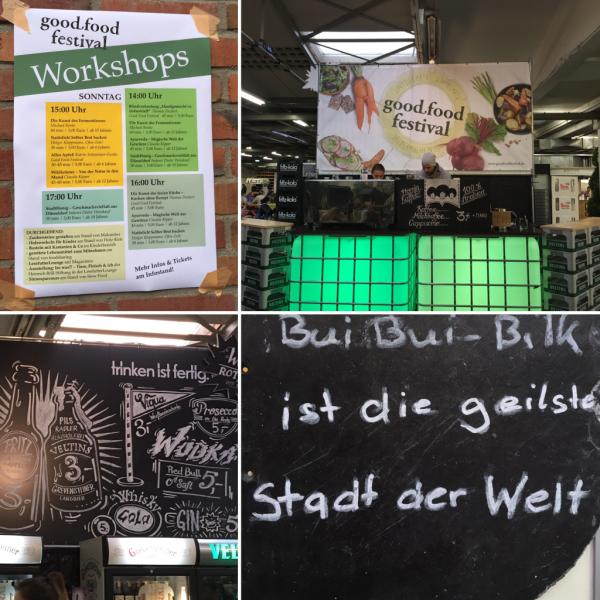 Workshops und Stände auf dem Good Food festival