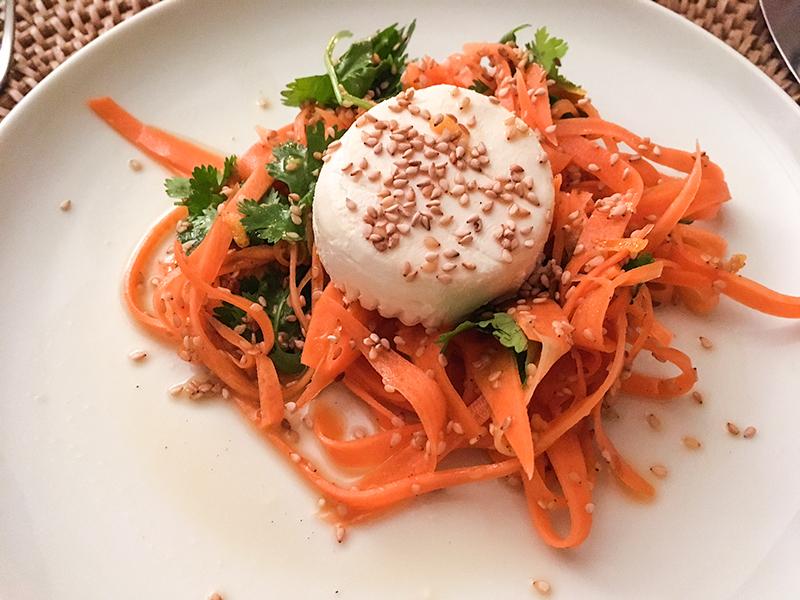 Supper Club - Möhren-Koriander-Salat mit Ziegenkäse