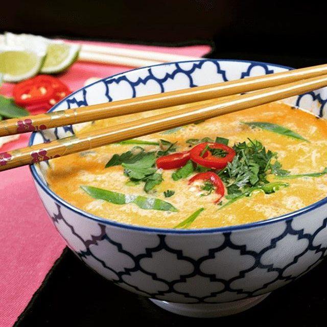 Tom kha phak hot and spicy thai soup vegan vegetarianhellip