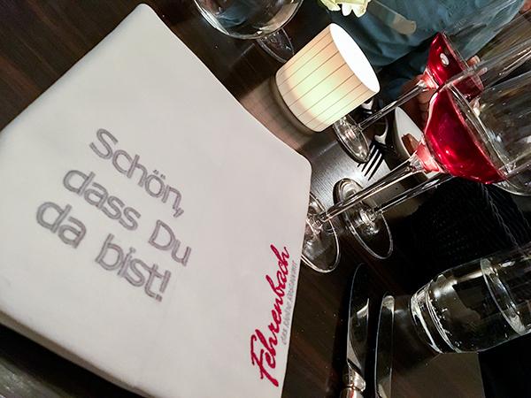 Das Restaurant Fehrenbach in Düsseldorf mit einem 5-Gang Menü