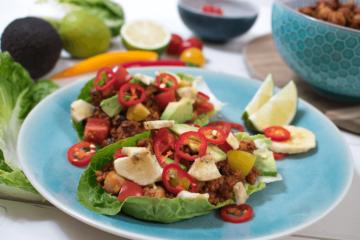 Vegane Low Carb Tacos, Salat tacos