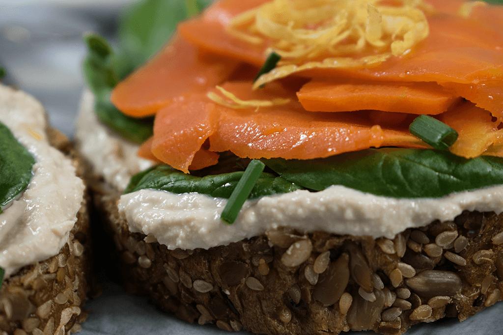 Karotten Lachs, veganer Lachs, Lachs aus Karotte