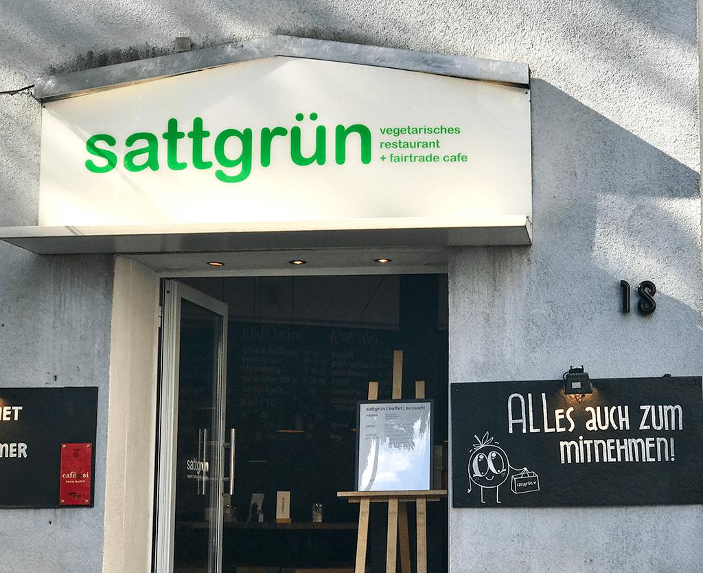 Das vegane Restaurant sattgrün in Düsseldorf