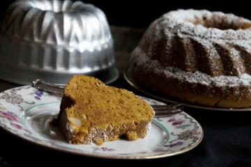 veganer Süßkartoffel Gugelhupf, veganer Süßkartoffel Kuchen mit zahlreichen Gewürzen