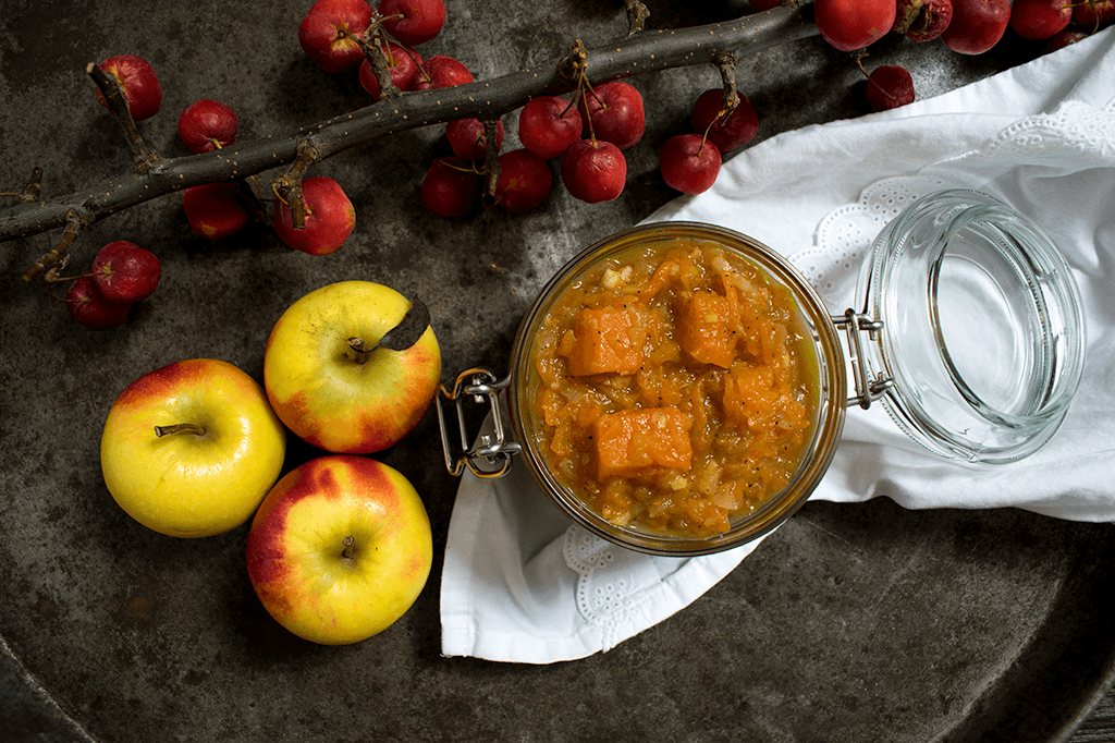 Ein würziges Apfel-Kürbis-Chutney, Apfel-Kürbis-Aufstrich