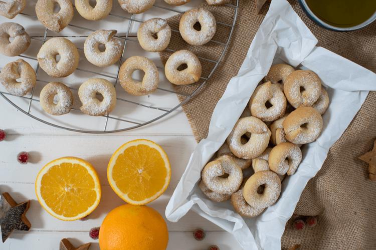 Orangen-Kekse mit Olivenöl, Olivenöl-Kekse