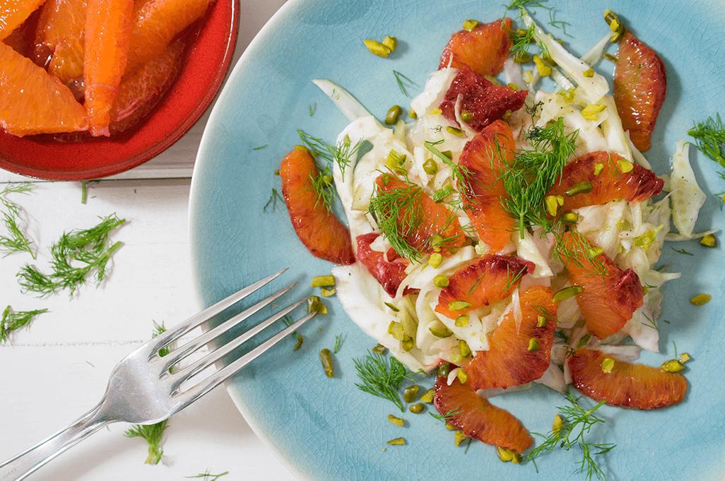 Fenchelsalat mit Blutorangen, Fenchel-Blutorangen-Salat